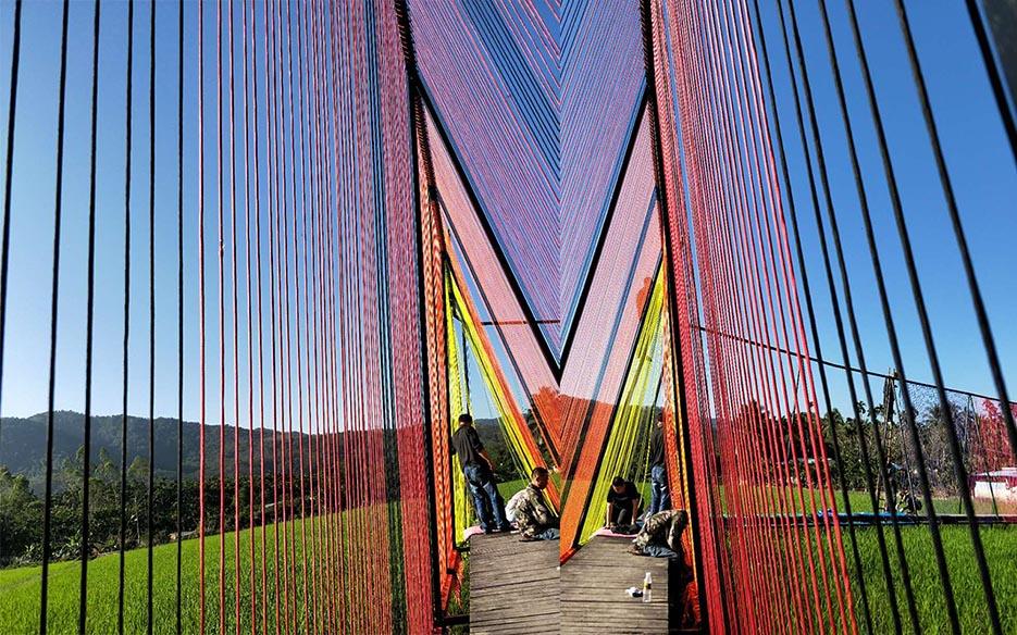 【展讯】上苑艺术馆六弓项目——阿根延艺术家Luz《路》装置作品展